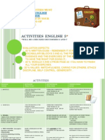Activities Unit 3 -Bloques 3 y 4- English 5