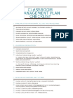 classroom management plan and checklist