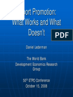 Export Promotion What Works What Doesnt Lederman