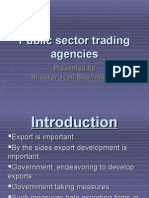 Public Sector Trading Agencies