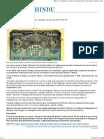 Netaji Currency Made Public - The Hindu
