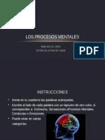 Los Procesos Mentales