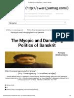 The Myopic and Damaging Politics of Sanskrit _ Swarajya.pdf