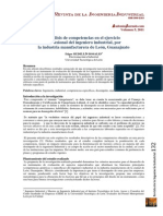 Analisis de Las Competencias Para El Ingeniero Industrial en Leon Gto