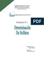 Determinacion Del Sulfato