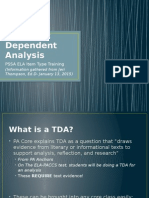 tda- text dependent analysis