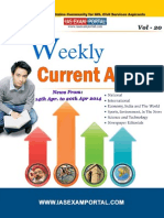 Weekly Current Affairs Update for IAS Exam Vol 20 14th April 2014 to 20th April 2014