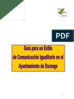 Durango Guia Estilo Comunicacion Genero