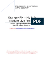 SoftwareTestingHelp OrangeHRM FRS-Sample