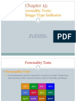 psychology 15 - myers-briggs type indicator