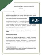 Mjl Apuntes y La Salud Mental en Colombia