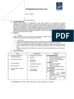 Programación Tutoria 4º 2014 II Bim