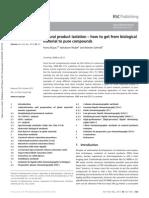 Review tecnicas de extraccion se paración e identificación de productos nautrales