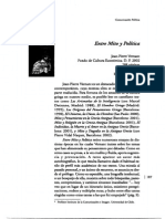 Jean Pierre Vernant Entre Mito y Politica