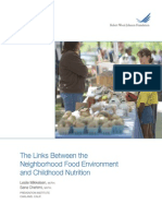 The Links Between the Neighborhood Food Environment & Childhood Nutrition