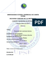 Upse Laboratorio de Fisica-resumen de La Semana Tecnica -Orozco Bonilla