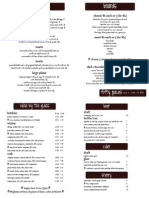 Fifty Paces Menu