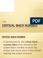 Critical Mach Number