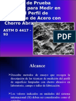 ASTM D4417 Medir de Rugosidad