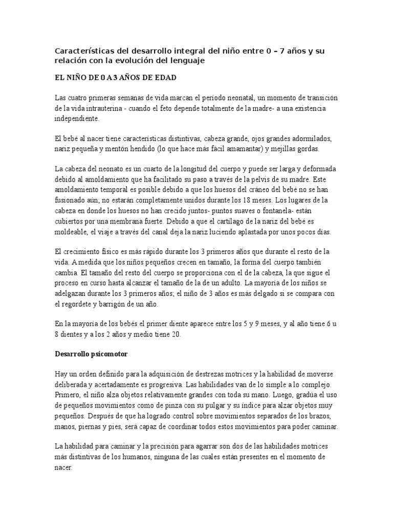 4fd6129c64 Características Del Desarrollo Integral Del Niño