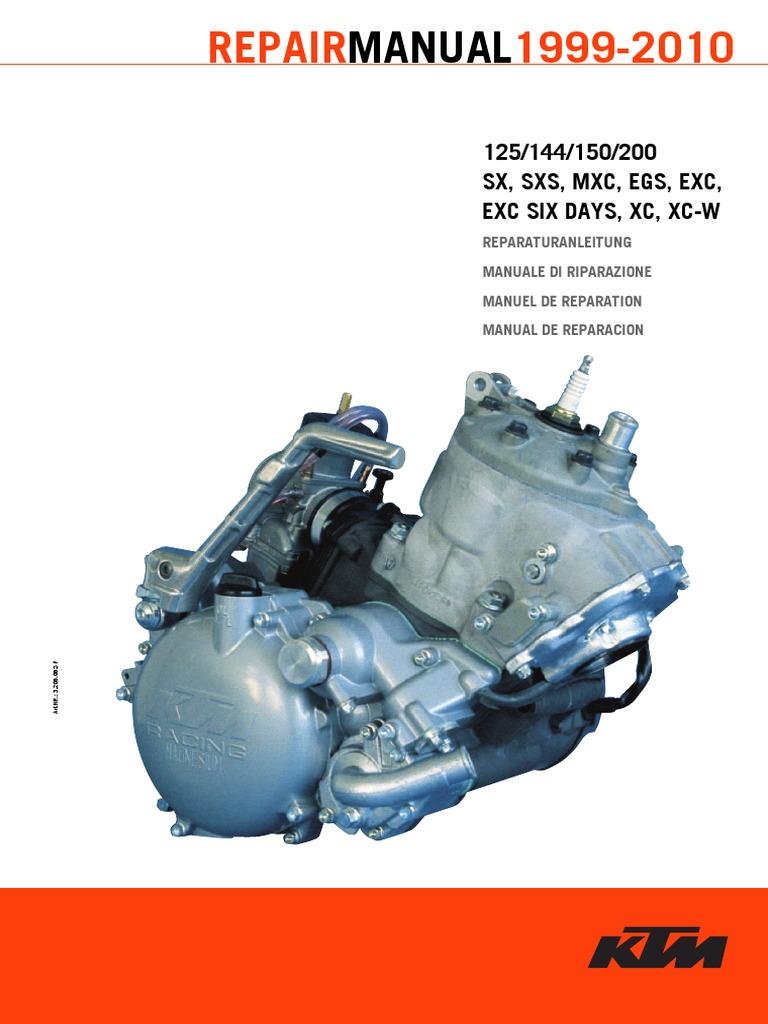 Schema Elettrico Ktm Exc 125 : Manuale ktm sx