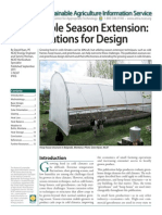 Sustainable Season Extension for Gardening - Considerations for Design; Gardening Guidebook