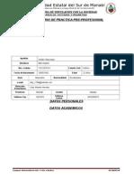 1. Formulario Datos Del Practicante Unesum