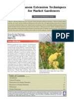 Season Extension Techniques for Market Gardeners; Gardening Guidebook