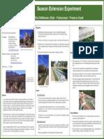 Season Extension Experiment; Gardening Guidebook for Utah