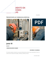 Mantenimiento en Instalaciones Eléctricas