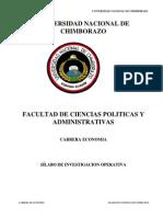 SÍLABO Investigacion Operativa (Economia 2014)