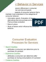 Consumer Behavior in Services