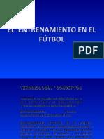 El Entrenamiento en El Futbol