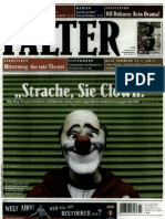 "Falter 22.1.2010 - ""Strache Sie Clown"""