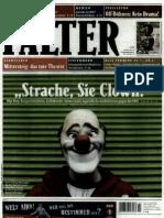 """Falter 22.1.2010 - """"Strache Sie Clown"""""""