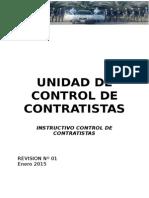 YPF SA UNAO Instructivo Control de Contratistas Revision 01 Octubre2010