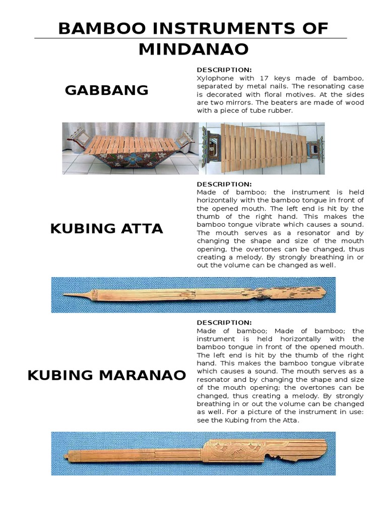 bamboo instruments of mindanao