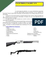Armamento escopeta corredera
