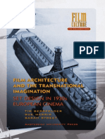 Film Architecture and the Transnacional Imagination - Set Design in 1930s European Cinema