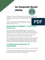 Starbucks Corporate Social Responsibility