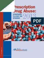 Prescription Drug Abuse 2013
