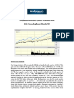 Wedgewood Partners Fourth Quarter 2014 Client Letter 2015 Groundhog Day or Wizard of Oz