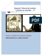 Cómo Se Escribe Para Redacción Jurídica
