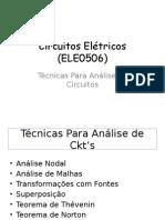 Tecnicas Analise em circuitos elétricos