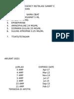 Daftar Obat Emergency Igd Siti Hajar