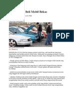 10 Checklist Beli Mobil Bekas