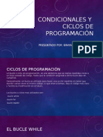 Condicionales y ciclos
