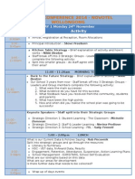 2014 conference running sheet