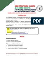 Temario Curso de Arbitraje Iquitos 2015