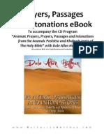 Aramaic Prayers, Passages, And Intonations